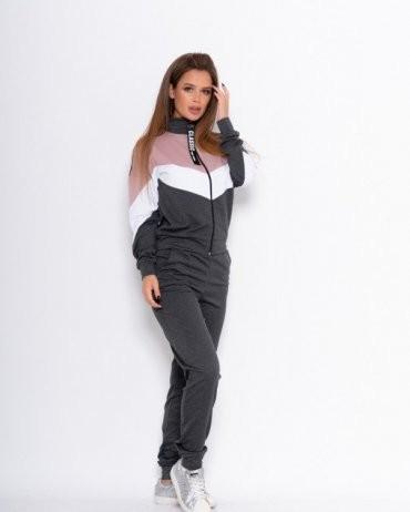 ISSA PLUS: Спортивные костюмы 11080_темно-серый - фото 1