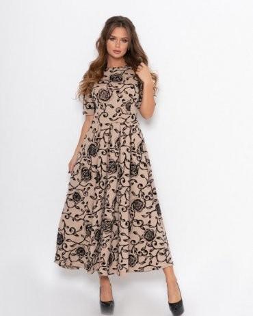 ISSA PLUS: Платья 11085_мультиколор - фото 1