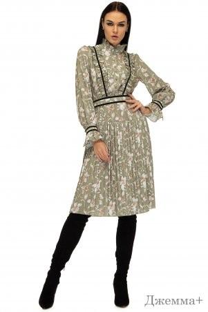 Angel PROVOCATION: Платье ДЖЕММА+ оливковый - фото 1