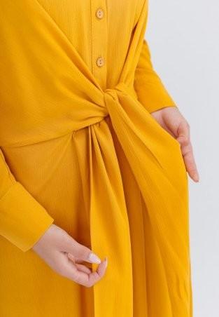 Bessa: Платье -рубашка миди с завязками 1896 - фото 5