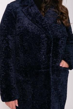 Tatiana: Шубка из искусственного меха РУАНА темно-синяя - фото 6