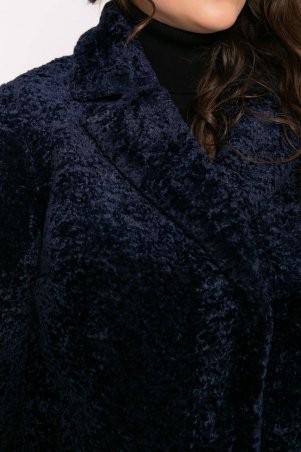 Tatiana: Шубка из искусственного меха РУАНА темно-синяя - фото 7
