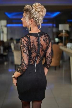 Bisou: Замшевое платье с кружевом 7460 - фото 4