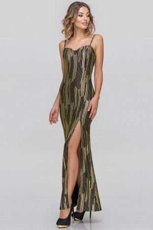 V&V: Платье 2887.124 золотистое с черным 2887.124 - фото 1