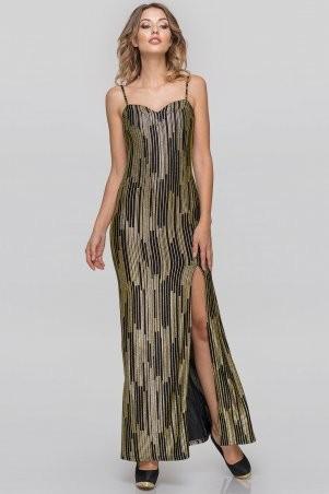 V&V: Платье 2887.124 золотистое с черным 2887.124 - фото 2