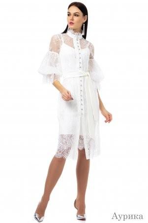 Angel PROVOCATION: Платье-двойка АУРИКА молочный - фото 1