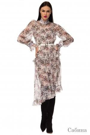 Angel PROVOCATION: Нарядное вечернее платье +комбинация САБИНА молочный - фото 1