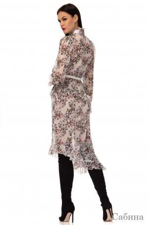 Angel PROVOCATION: Нарядное вечернее платье +комбинация САБИНА молочный - фото 2