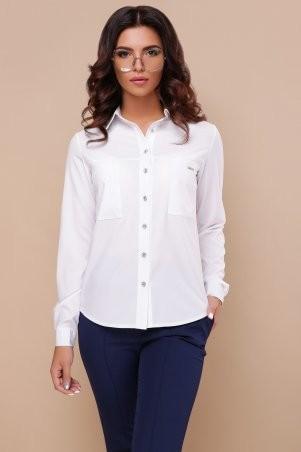Glem: Блуза Кери д/р белый p43306 - фото 1