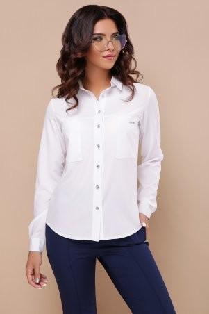 Glem: Блуза Кери д/р белый p43306 - фото 2