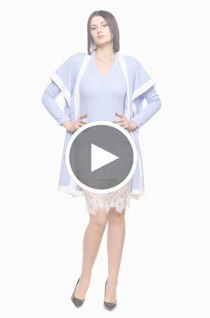 Zuhvala: КОМПЛЕКТ (платье + накидка) Палладиум - перейти к видео товара