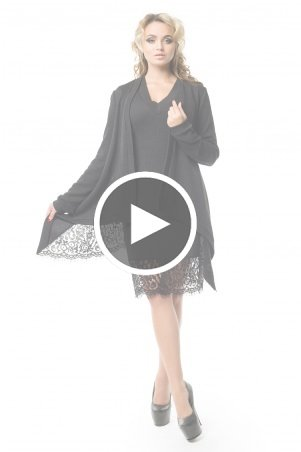 Zuhvala: КОМПЛЕКТ (платье + накидка) Брауни - перейти к видео товара